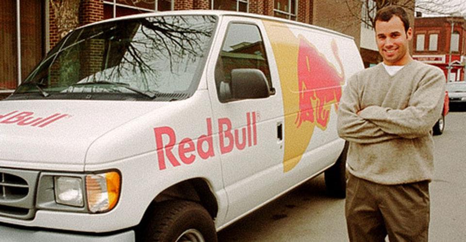 Zach standing next to the Red Bull van